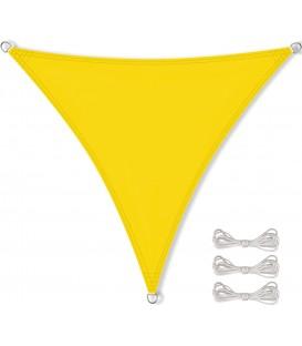 SLUNEČNÍ PLACHTA trojúhelník STÍNĚNÍ 5x5x5 m broskev