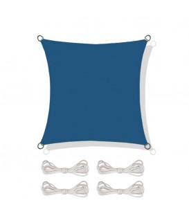 SLUNEČNÍ PLACHTA stříška STÍNĚNÍ 5x5 m modrý