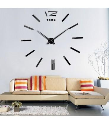 Moderní černé nástěnné hodiny
