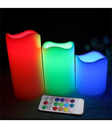 Dekorativní LED svíčky 3set bílá