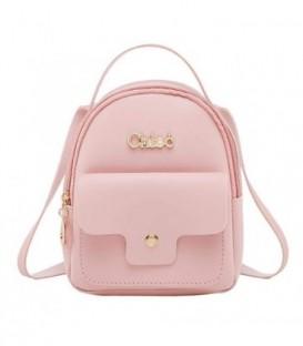 Kožená batoh malý růžový