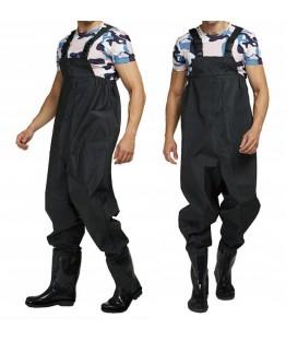Rybářské kalhoty na hrudi a podvazky 44