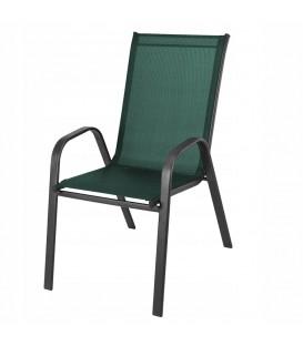Zahradní židle, křeslo na terasu či balkón, kovové Zelená
