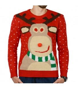 Vánoční svetr sob vánoční dárek - černý