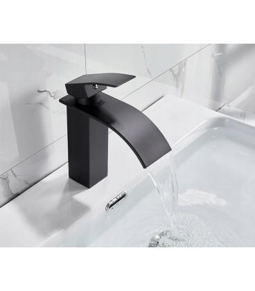 Koupelnová baterie umyvadlo vodopád černá