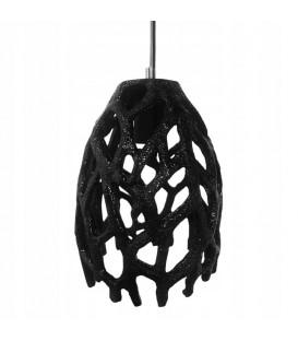 Lustrová závěsná lampa Černá