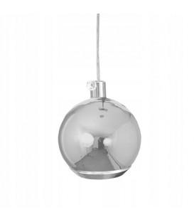 Závěsná lampa LED koule stříbrná malá