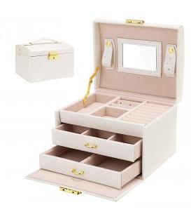 Šperkovnice hrací skříňka - bílý