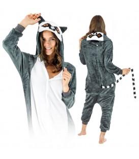 Lemur KIGURUMI ONESIE TEPLÁKY PYŽAMO KOMBINÉZA KIGU