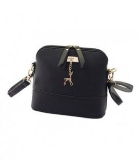 Malá kabelka psaníčko přes rameno kůže BARVY černá Q1