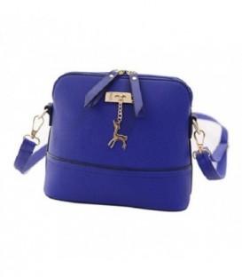 Malá kabelka psaníčko přes rameno kůže BARVY modrý Q1