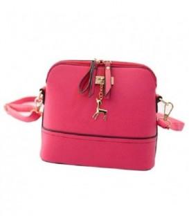 Malá kabelka psaníčko přes rameno kůže BARVY růžový Q1