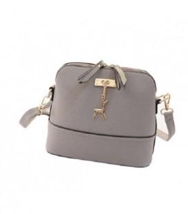Malá kabelka psaníčko přes rameno kůže BARVY šedá Q1