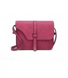 Malá kožená kabelka fialová černá kůže fuchsie / Q7