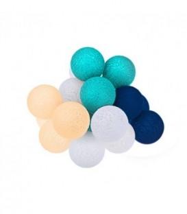 Cotton Balls DEKORAČNÍ koule LED světla 10 koulí