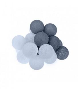 Cotton Balls DEKORAČNÍ koule LED světla 20 koulí