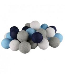 Cotton Balls DEKORAČNÍ koule LED světla 35 koulí