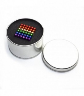 Neocube – magnetické kuličky 216 ks 5mm sixcolor