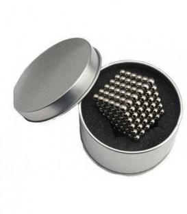 Neocube – magnetické kuličky 216 ks 5mm stříbro