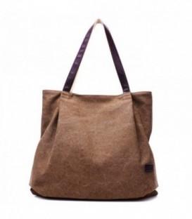 Dámská taška velká taška hnědý CANVAS07