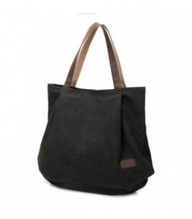 Dámská taška velká taška černá CANVAS07