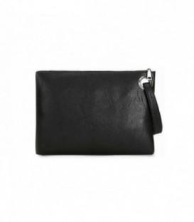 Dámská KOŽENÁ kabelka černá/ do ruky Q3