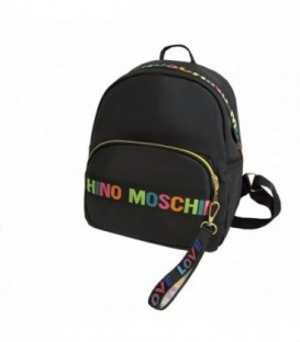Kožená batoh  černá MOSCHINO / BN42