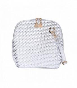 Dámská kabelka na rameno stříbro WB1723