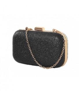 Dámská kabelka na rameno, lesklý černá