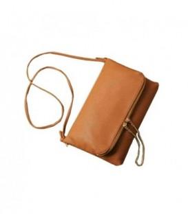 Dámská kožená kabelka hnědý / WS1017