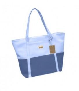 Dámská taška velká taška shopper na rameno modrý/ WB1724