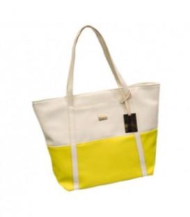Dámská taška velká taška shopper na rameno žlutý / WB1724