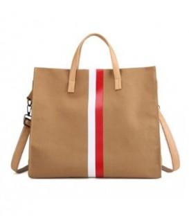Dámská taška velká taška eko materiál béžový C2