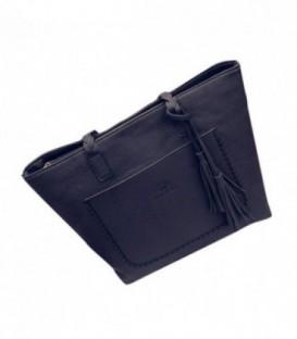 Dámská KOŽENÁ kabelka černá WB1721