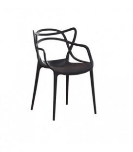 Křeslo židle master průhledné ČERNÉ C-486