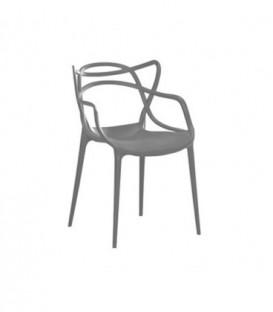 Křeslo židle master průhledné ŠEDÉ C-486