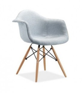 Židle patchwork plyšový daw ŠEDÁ C-437