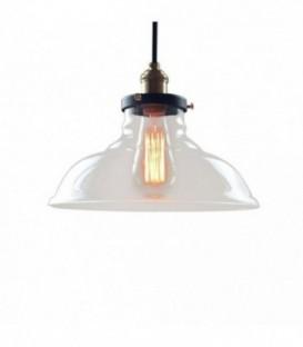 Stropní LAMPA retro industriální skleněné stínítko