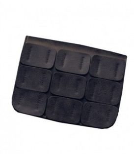 Dámská KOŽENÁ  kabelka snášivkami černá / WB1725