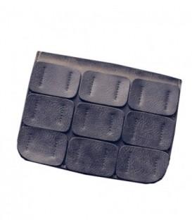 Dámská KOŽENÁ  kabelka snášivkami šedá/ WB1725