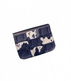 Dámská KOŽENÁ  kabelka snášivkami/ bílý print WB1725