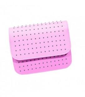 Dámská KOŽENÁ kabelka malý růžový WB1709