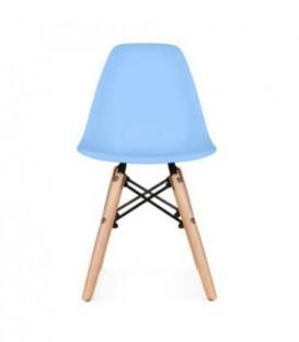 Malá židle židlička pro děti DSW retro MODRÁ C-445