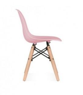 Malá židle židlička pro děti DSW retro RŮŽOVÁ C-445