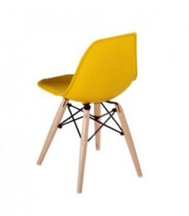 Malá židle židlička pro děti DSW retro ŽLUTÁ C-445