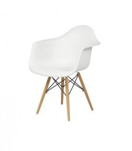Moderní židle design modern daw retro BÍLÁ C-438