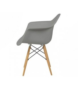 Moderní židle design modern daw retro ŠEDÁ C-438