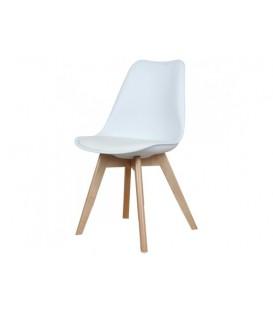 Moderní židle design modern DSW retro BÍLÁ C-487