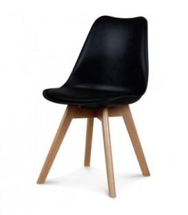 Moderní židle design modern DSW retro ČERNÁ C-487