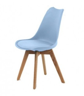 Moderní židle design modern DSW retro MODRÁ C-487
